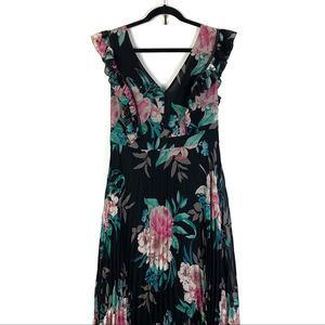 Eliza J Floral Pleated Gown Sz 12